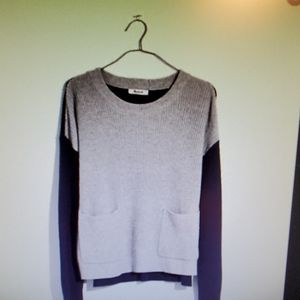 Madewell heather and navy pockets sweater